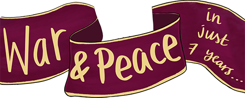 Logo for War and Peace in just 7 years | Podcast | #WAPIN7